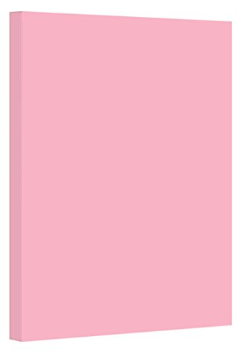 Pink Pastel Color Card Stock Paper, 67lb Cover Medium Weight Cardstock, for Arts & Crafts, Coloring, Announcements, Stationary Printing at School, Office, Home | 8.5 x 11 | 50 Sheets Per Pack