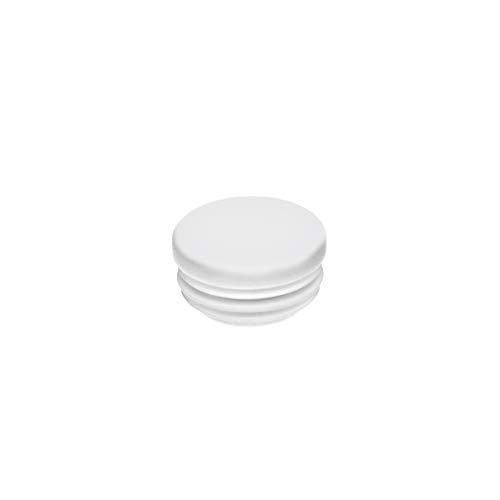 Rundstopfen 22 mm Weiß   1 Stück   Kunststoff Lamellenstopfen Abdeckkappe
