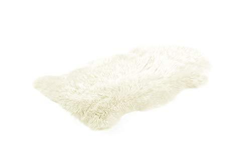 Bowron Teppich aus Schaffell – Farbe Elfenbein – ca. 60 x 105 cm