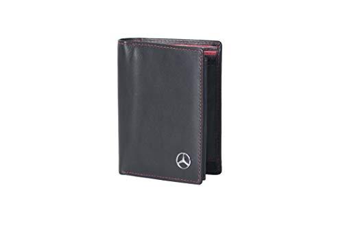 Eldera Herren Geldbörse Auto Logo M1 Schwarz-Rot Leather