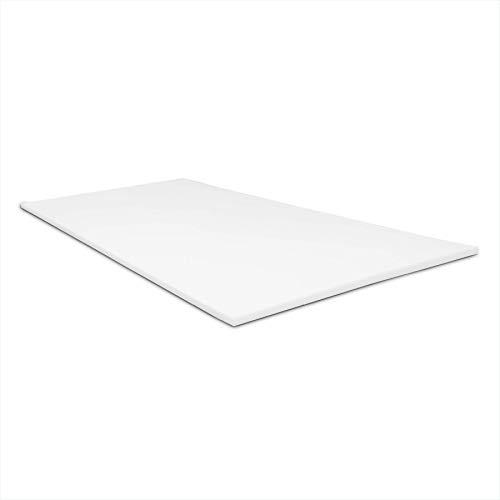Dreaming Kamahaus Plancha Visco 2 cm | Sin Funda | Top para colchón | Alta Gama | Viscoelástica Premium 50kg/m3 | Ergonómico | Alto Confort y adaptabilidad | 105 x 190 cm. |