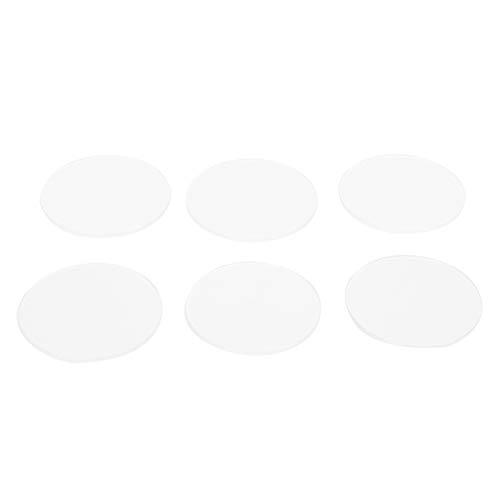 Eujgoov 6 Piezas de Cristal Plano, 37,5-40 mm, Cristal de Reloj, Lente de Zafiro Gruesa, reemplazo de Suministros industriales
