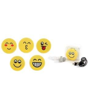 Lote de 20 MP3 Emoticonos En Caja de Regalo (Cable + Casco) - Reproductores MP3 para Detalles de Comuniones, Cumpleaños
