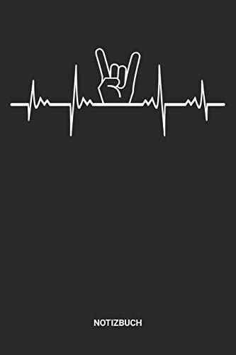 Notizbuch: A5 Notizheft mit punktierten Linien für einen Rock oder Rockmusik Liebhaber? Ideales Musik Journal oder Notizbuch für Musiker und Rocker. ... Geschenkidee für Männer und Frauen