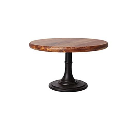 Puesto de pasteles Placa de pastel soporte placa de madera plato de plato de plato de plato de plato de plato de plato de postre Pantalla de decoración de bandeja de boda (Color : 25.5cm)