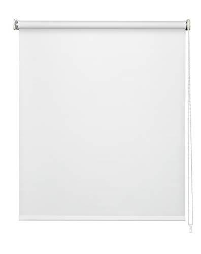 Easydeco - Estor Enrollable Blackout (Blanco, 90_x_250_cm)