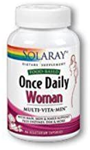 Solaray Once Daily Multivitamin Capsules for Woman, 90 Count by Solaray