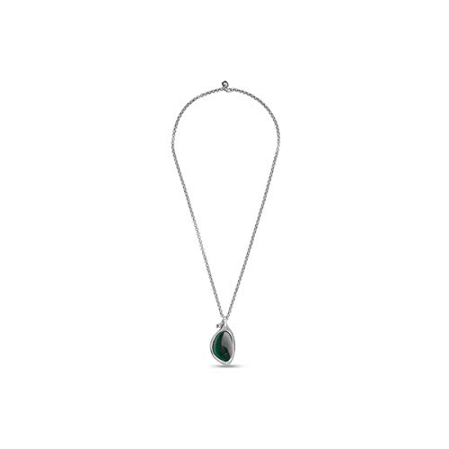 Ciclon Collar en Acero Cristal de Murano Verde 01062190