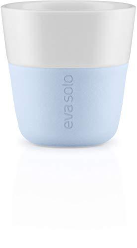 EVA SOLO | 2 Espresso-Becher| Porzellan, Silikon | Soft Blue