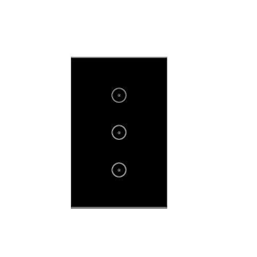 Jinvoo Smart 3 Gang US-Wandschalter mit Wi-Fi-Touch, Hub, intelligente Zeitschaltuhr, Fernbedienung nicht erforderlich, Funktioniert mit Alexa Echo/Google-Startseite/iOS/Android