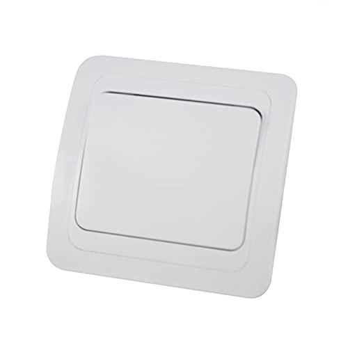 HLY-CASE Interruptor de Pared 1 Gang 2 Way, Interruptor de luz Blanca AC 110~250V Diseño Elegante