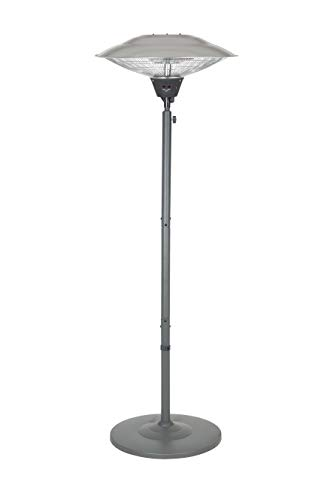 La Hacienda Grey Series Standing Heater-Carbon Fibre Element