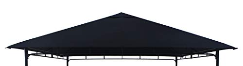 TrendLine Ersatzdach 2,95 x 2,95 m für Pavillon Como Schwarz Pavillondach