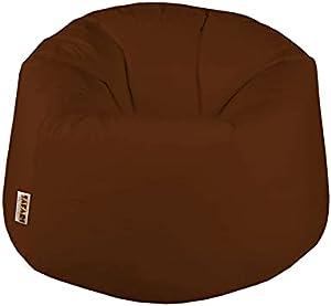 Safari Baby Beanbag Leather -Dark Brown