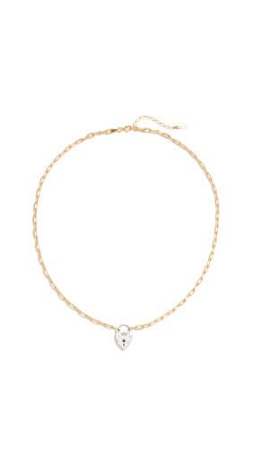 Maison Irem Women's Vintage Heart Locket Choker Chain, Gold, One Size