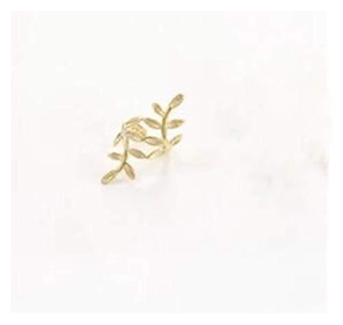 ZNXHNDSH 1PC Sliver Gouden Kleur bladvorm Punk Ear Cuff Oorbellen Nee Piercings Earcuffs Clip oorbellen for vrouwen Clips partij sieraden (Color : 1 PC GOLD)