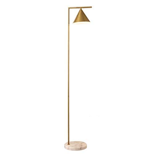 CLHXZ Lámpara de pie Trompeta de Hierro Forjado, Europea y Americana, lámpara de pie con Pantalla giratoria, Dormitorio, Estudio, lámpara de pie Simple