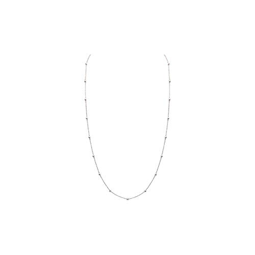 House of Meèsse Women's Station, Lariat, By The Yard Chain Necklace in 22' , Rhodium Plated, Comes with an Elegant Gift Box