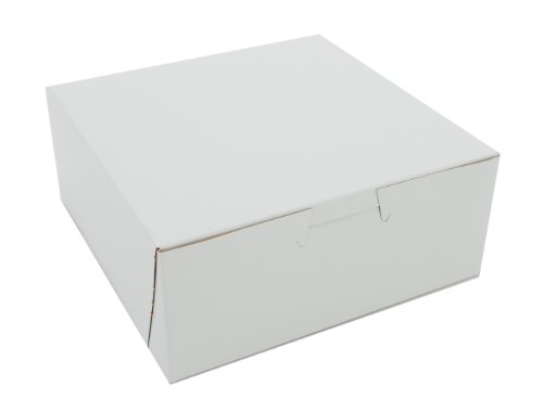 Southern Champion Tray 0901 Premium Clay Coated Kraft Paperboard White Non-Window Lock Corner Bakery Box, 6