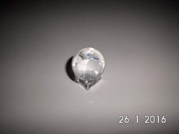 Gaide und Petersen Kristallglaskugel Erde ca. 30mm Weltkugel aus Glas, Globus,Glaskugel (139101)