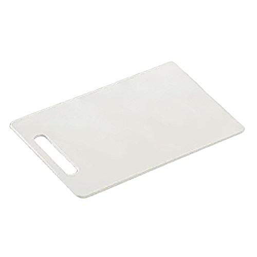 Kesper 30470 tagliere da cucina, Rettangolare, Plastica, Bianco, 29 x 19.5 x 0.5 cm
