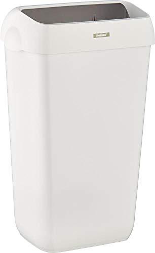 Katrin Abfalleimer, Deckel, 25 l, 330 x 230 x 550 mm, weiß