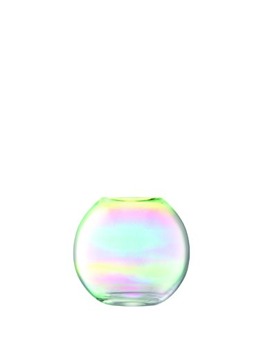 LSA Vase, Glass, Mother of Pearl, 17.7 x 17.7 x 16 cm