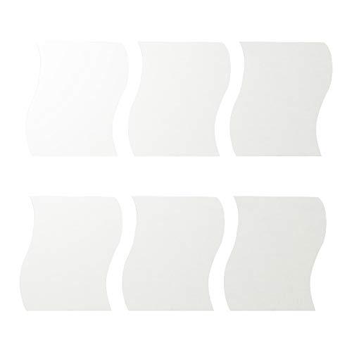 Apofly Wandspiegel Aufkleber, 3D Wellenförmige Spiegel Badezimmer 6pcs Self Adhesive Spiegel Fliesen Wohnzimmer-Wand Paster Dekoration Silber Acryl Welle Spiegel 25 * 30cm
