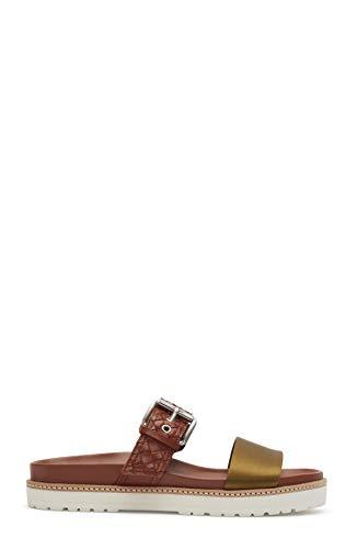 Etienne Aigner Apollo - Leather Sandal in Khaki