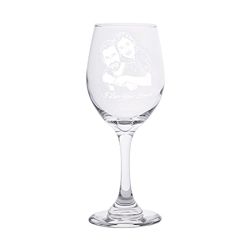 Copa de vino tallada copa de vino personalizada foto copa de vino texto copa de vino copa de vino personalizada(1 taza 8×19.5 Cm)