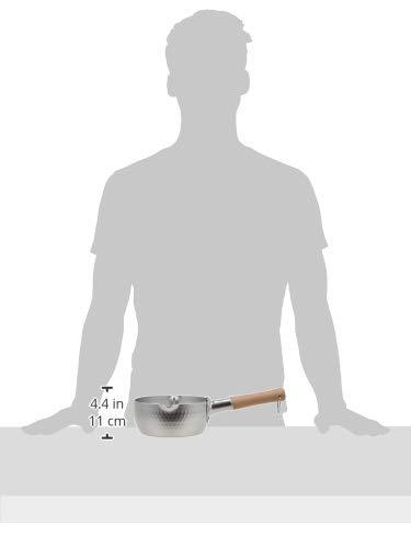 谷口金属日本製和の職人ゆきひら鍋シルバー16cm容量:1.2LIH・ガス火兼用軽くて使い易い熱伝導がよいアルミニウム製