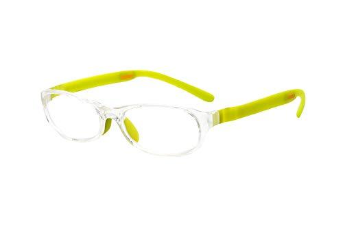 フロートリーディング(老眼鏡)テンプル(腕)のカラーを選べる グッドデザイン賞受賞のオシャレな老眼鏡 鯖江企画 驚きの掛け心地 首にも掛けれる ブルーライトカット 超軽量 モデル:ライト (ライト + ライム, 度数+1.0)