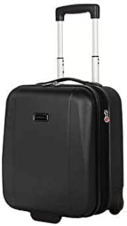Ciao Carry-On Under seat Expandable Luggage Hard side 15 Inch With Smooth Gliding Wheels And Handles (Black)