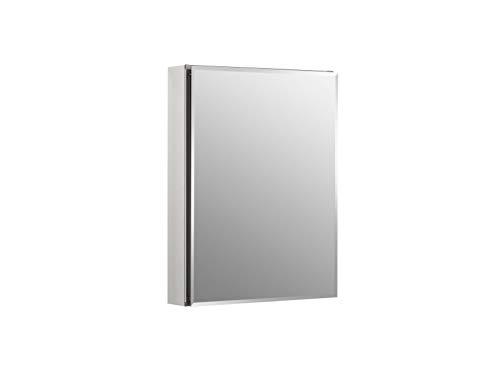 Kohler K-CB-CLC2026FS Frameless 20 Inch X 26 Inch Aluminum Bathroom Medicine Cabinet; Recess Or Surface Mount , Silver