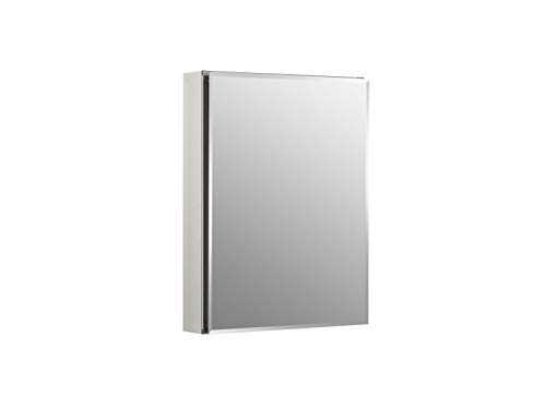 Kohler K-CB-CLC2026FS Frameless 20 Inch X 26 Inch Aluminum Bathroom Medicine Cabinet; Recess Or Surface Mount
