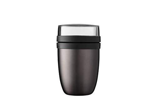 Mepal Lunchpot Ellipse-Titanium – 500 ml praktischer Thermo-Essensbehälter, Joghurtbecher, to go Becher – Hält Speisen Lange warm oder kühl, polypropyleen, 500 + 200 ml
