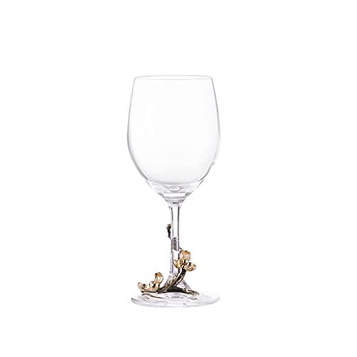 MQH Copas de Vino Conjunto de Copas de Vino de Cristal de 2, Conjunto clásico de Cuenco Redondeado, Conjunto de Copa de Vino para Todo propósito, Conjunto de Regalos para el hogar/Aniversario/de Vino
