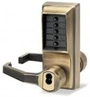 Simplex LL1021R-05-41 Left Hand Mechanical Push Button Lock With Sargent IC Prep Antique Brass Finish