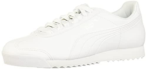 PUMA Roma Basic, Sneaker Uomo, Bianca (white-light gray), 43 EU