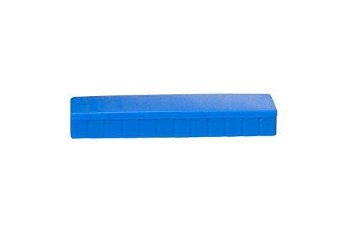 Magnet Maulsolid, rechteckig, bruchsicherer Kunststoff, 1 kg Haftkraft, 54 x 19 x 9 mm, blau, 6165035, 10 Stück