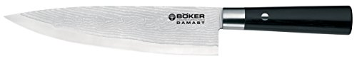 Boker 130421DAM Damascus Chefs Knife with 8 1/4 in. Blade, Black