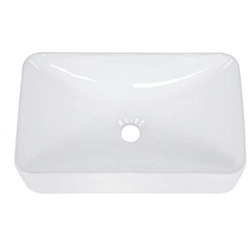 Modern Rectangular Shape Bathroom Sink High-grade White Ceramic...