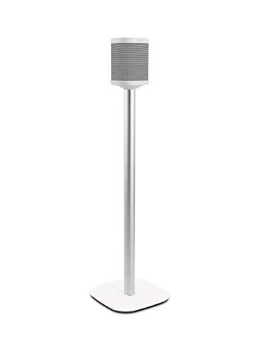 Vogel\'s SOUND 4301 Lautsprecher Ständer für Sonos One (SL), Integriertes Verlängerungskabel, Höhe: 82 cm, Max. 5 kg, Weiß, 1 Standfuß
