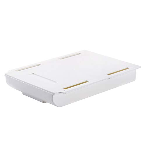 Caja de Almacenamiento de Escritorio Bandeja de lápices de autoajilla bajo escritorio Organizador de cajones de mesa Organizador de mesa cajas de cajas de almacenamiento autoadhesivo Baja de almacenam