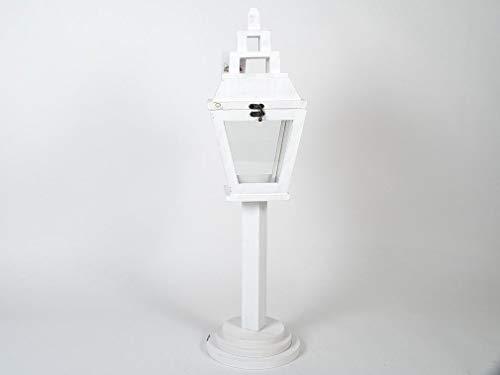 Lanterna decorativa da giardino bianca Misure 18x18x70 cm