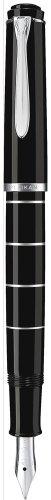Pelikan M215 Penna stilografica Classic 215 anelli pennino F silver
