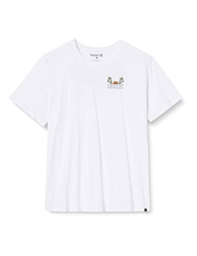 Hurley M Peekaboo S/S T-Shirt Hombre, Blanco, XL