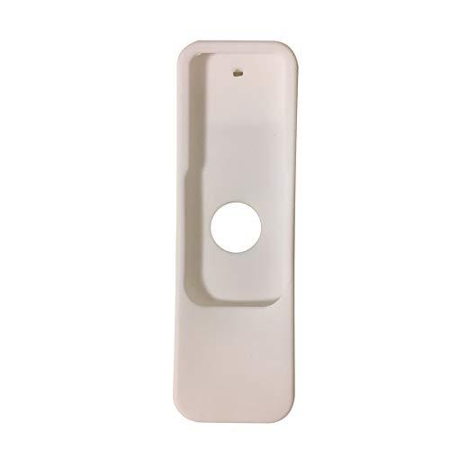 MCLseller - Carcasa protectora para Apple TV 4 (silicona), diseño de mando a distancia, No nulo, Blanco, Tamaño libre