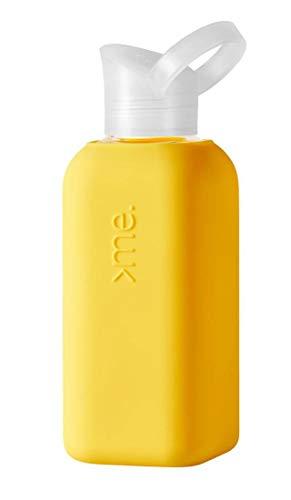SQUIREME. SQME-CCX3-YELLOW - Botella de cristal (500 ml), color amarillo