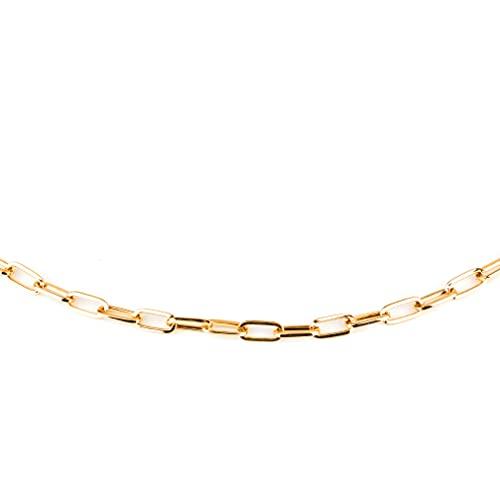 Collar chapado en oro de 18 quilates, chapado en oro, cadena chapada en oro, acero inoxidable, bisutería para mujer, cadena de mujer